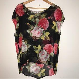 Fabrik sheer blouse size medium